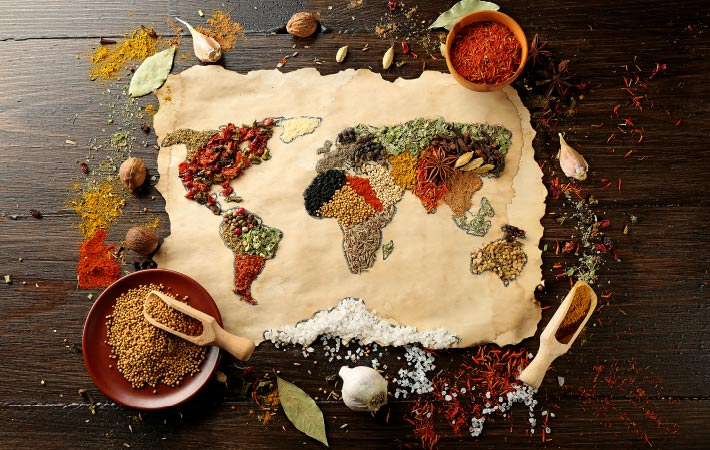 Destinations for foodies world made of spices 710x450