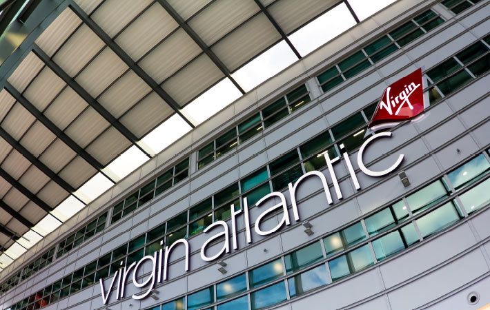 Virgin Atlantic sign in Heathrow 710x450