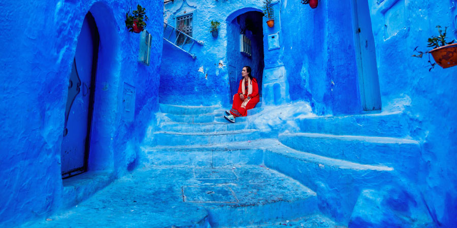 most instagrammable destinations morocco blue city 900x450