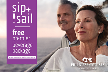 Sip  Sail Princess specials tile
