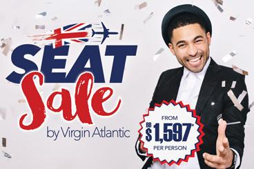 Virgin Seat Sale July 2019 specials tile